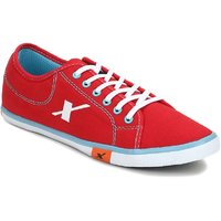 Sparx Men's Red & Sky Blue  Lace-up Smart Casuals