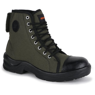 Sparx Men Olive  Black Casual Shoes (SM-9020)