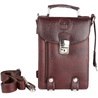943c09f253a1 Buy JL Collections Men s Leather Brown Mens Bag Online - Get 5% Off