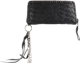 JL Collections Black Women's Leather Clutch