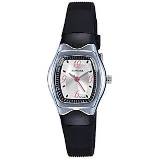 Sonata Quartz White Dial Women Watch-NF8989PP03J