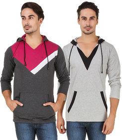 Aurelio Marco Multi V-Neck T-Shirt Pack of 2