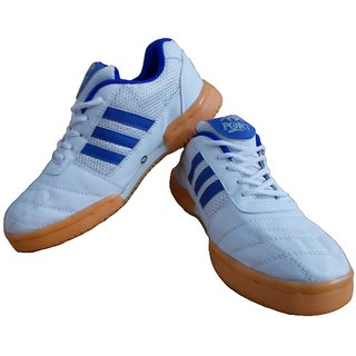 Port Mens Blue White Smash Badminton Shoes