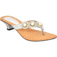 Altek Designer Silver Kitten Heel Sandal (foot-s1316-si
