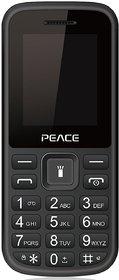 Peace P1 Black (1.8-inch, Dual Sim, 850 Mah Battery / 16GB Expandable / BIS certified, Wireless FM)