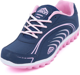 Asian Women's Pink & Navy Sports Shoes