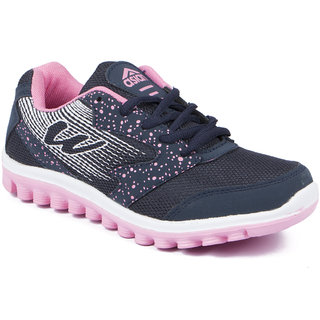 Asian Women's Navy & Pink Sports Shoes