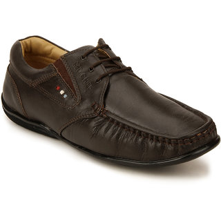 Red Chief Brown Men Derby Formal Leather Shoes (RC10061 003)