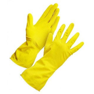 Hand Gloves Washing Cleaning Kitchen Household Rubber Gloves ( 2 Pcs.)