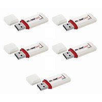Moserbaer Knight Pack - 5 8 GB  Pen Drive (White)