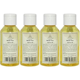Khadi Pure Herbal Apricot Oil - 100ml (Set of 4)