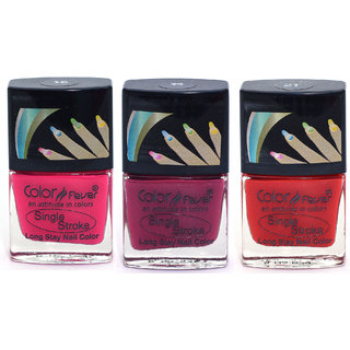 Color Fever Ultra Sparkle Nail Color - Red/Pink/Purple