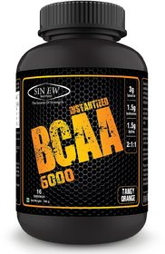 Sinew Nutrition Instantized 2:1:1, 100gm/0.22lb BCAA (100 g, Tangy Orange)