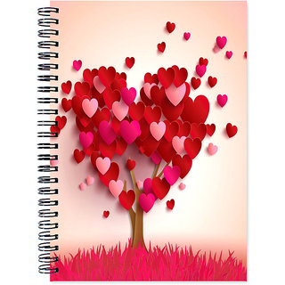 Love Theme Wirebound Ruled Paper Sheets Personal and Office Stationary Notebooks Diary