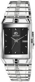 Adamo Legacy (Day & Date) Rectangle Dial Metal Silver Strap Men Wrist Watch 9151SM02