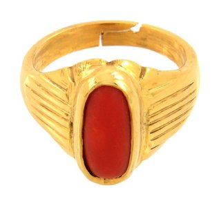 10.25 ratti Natural Red coral Adjustable ring