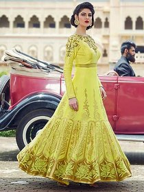 Yellow Super Long Gown