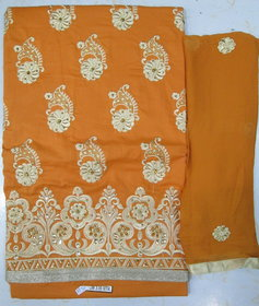 Anjali Cotton Fully Embroided Work Full Suit As Shown (Unstitched)