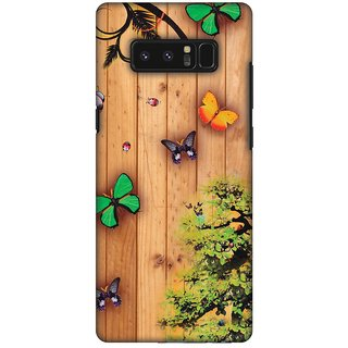 Amzer Designer Case - Bonsai Butterfly For Samsung Galaxy Note8 SM-N950U