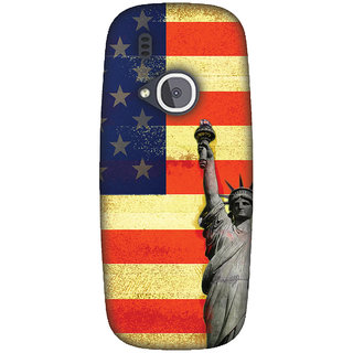 Amzer Designer Case - Rustic Liberty US Flag For Nokia 3310