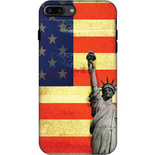 AMZER Hybrid Dual Layer Designer Case - Rustic Liberty US Flag For IPhone 7 Plus