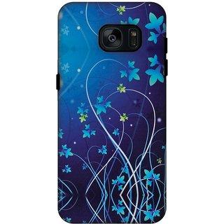 AMZER Hybrid Dual Layer Designer Case - Midnight Lily For Samsung GALAXY S7 SM-G930F