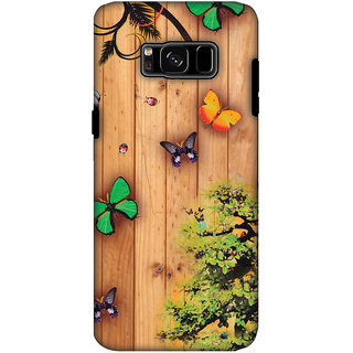 AMZER Hybrid Dual Layer Designer Case - Bonsai Butterfly For Samsung Galaxy S8