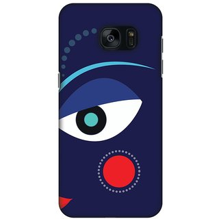 Amzer Durga Puja Designer Cases - Divine Goddess - Blue For Samsung GALAXY S7 SM-G930F