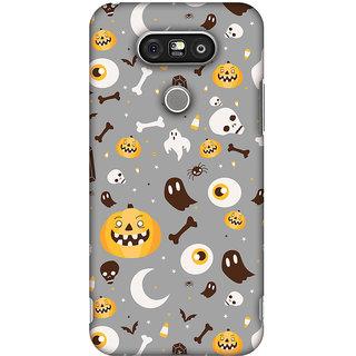 Amzer Halloween Designer Cases - Freaky Grey For LG G5