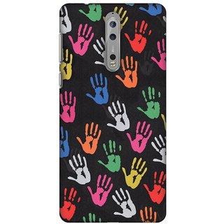 Amzer Designer Case - Colour Palms For Nokia 8