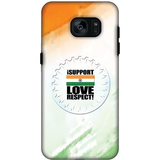 AMZER Hybrid Dual Layer Designer Case - I Support Love India For Samsung GALAXY S7 SM-G930F