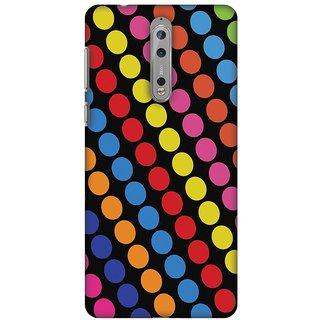 Amzer Designer Case - Funky Dot Stripes For Nokia 8