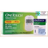 Johnson & Johnson' OneTouch Select Simple Glucometer With 10 Strips