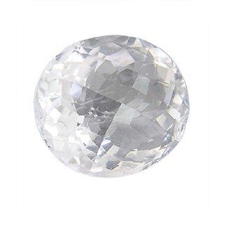 6.25 Ratti Super Quality Natural WHITE Topaz ,Substitute of WHITE Sapphire, SAFED Pukhraj