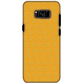 AMZER Hybrid Dual Layer Designer Case - Retro Lines Shape For Samsung Galaxy S8 Plus