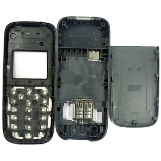 Full Body Housing Panel For Nokia 1200 Black