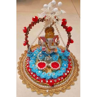 Buy Ganesha Engagement Ring Platter Tray With 2 Ring Holders Online
