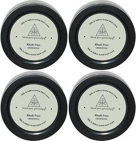 Khadi Pure Herbal Milk  Saffron Hand Cream with Sheabutter - 50g (Set of 4)