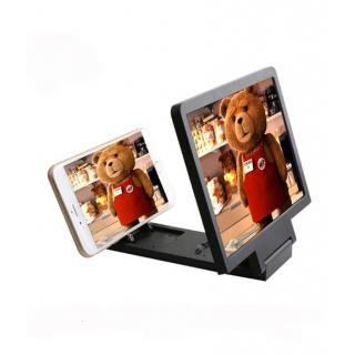 3D Folding Mobile Phone Screen Magnifier Stand (Black)