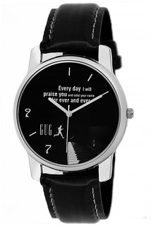 GUG Black Analogue Watch For Men