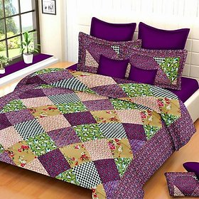 Cottot Bedsheet With 2 poillow Cover
