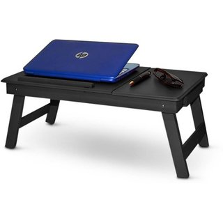 IBS Collorwood Solid Wood Portable Laptop Table  (Finish Color - Black)