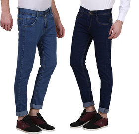 DENIM SLIM FIT JEANS FOR MEN-PACK OF 2PCS