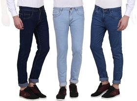 X-Cross Nifty Denim Slim Fit Jeans For Men-Pack Of 3Pcs