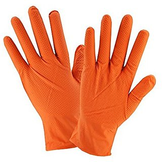 Latex Household Kitchen Long Gloves, Free Size - For Laundry, Dish-Washing, Scrubbing Floors, Gardening