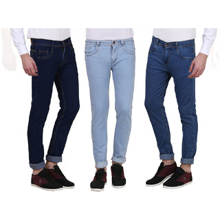 Men's Multicolor Regular Fit Jeans