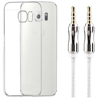 on sale 76ba0 5d97c Samsung Galaxy Grand 2 G7102 Soft Transparent TPU Back Cover with 3.5mm  Metal Aux Cable