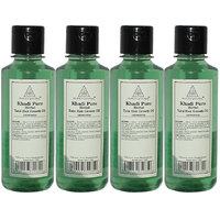 Khadi Pure Herbal Tulsi Hair Growth Oil - 210ml (Set of 4)