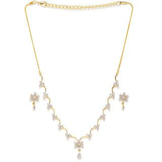 Zaveri Pearls Delicate Cubic Zirconia Necklace Set - ZPFK5995