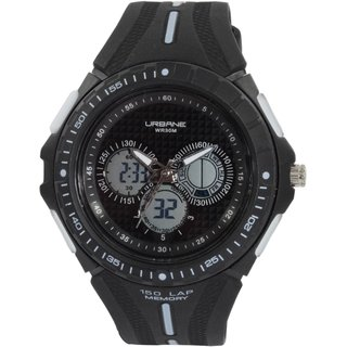 Maxima U-35072PPAN Quartz Black Round Men's Watch (U-35072PPAN)
